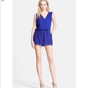 Parker North Surplice Silk Romper